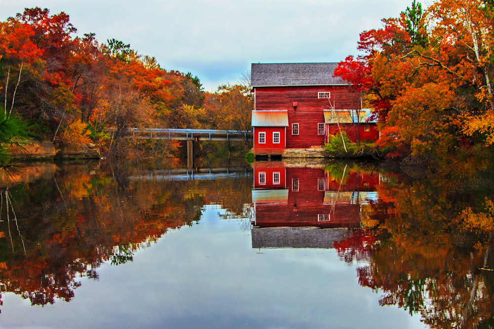 Dells Mill Reflection - Best Fall Photos William Drew