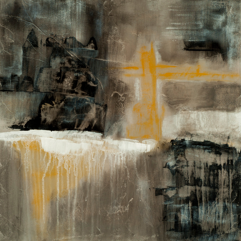 Contemporary Abstract Painting Mythic Allure Contemporary Abstract Painting Of A Medieval Castle And Bridge
