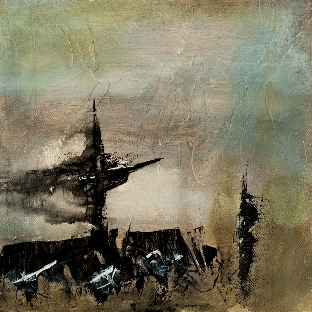 Contemporary Abstract Painting Disintegrate Contemporary Abstract Painting Suggesting A Shipwreck By Jana Kappeler