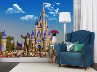 Partners and Cinderella's Castle - Disney Wall Murals ...