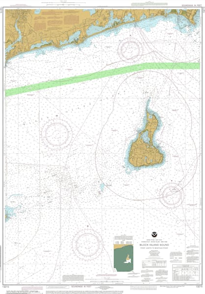 New York Authentic Fine Art Noaa Nautical Charts