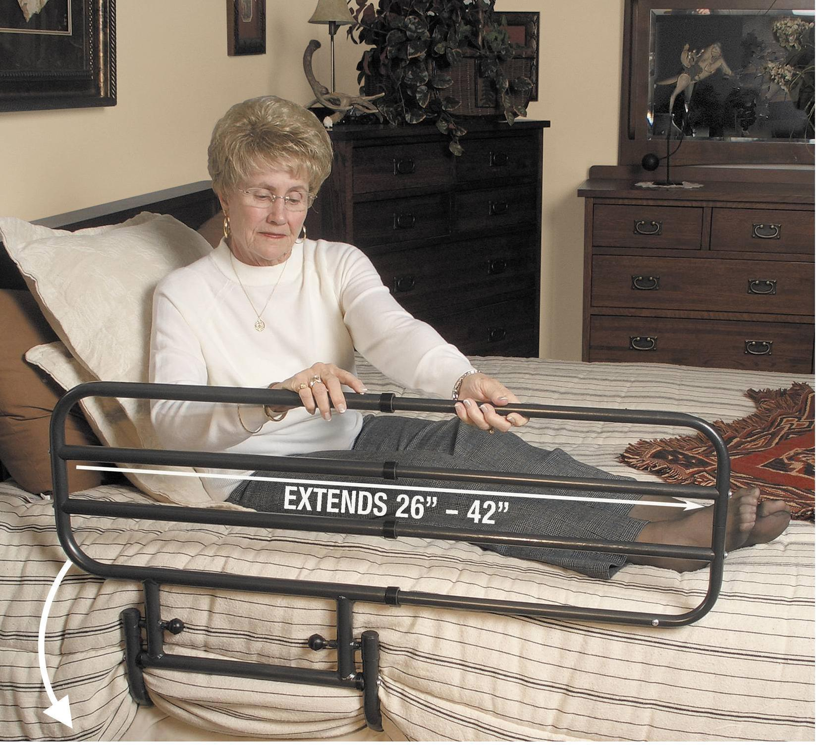 Bed Aids Ez Adjustable Bed Rail Living Made Easy