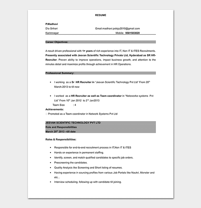 free college resume template download