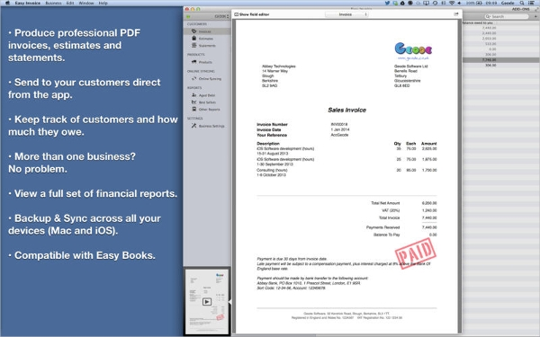7+ Best Invoice Maker Software Free Download For Windows, Mac
