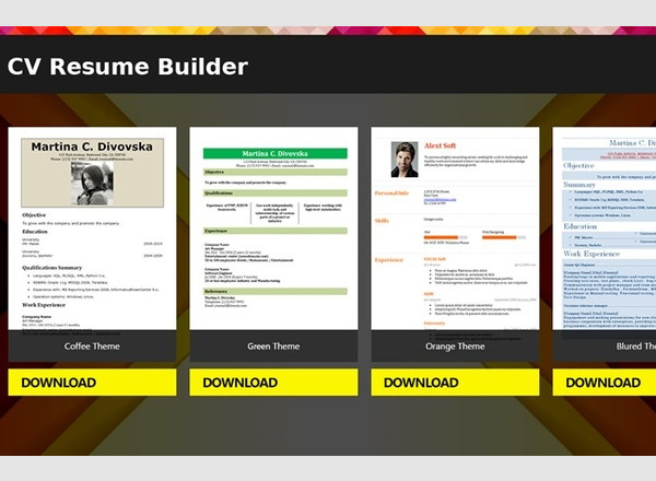resume builder software free download for mac