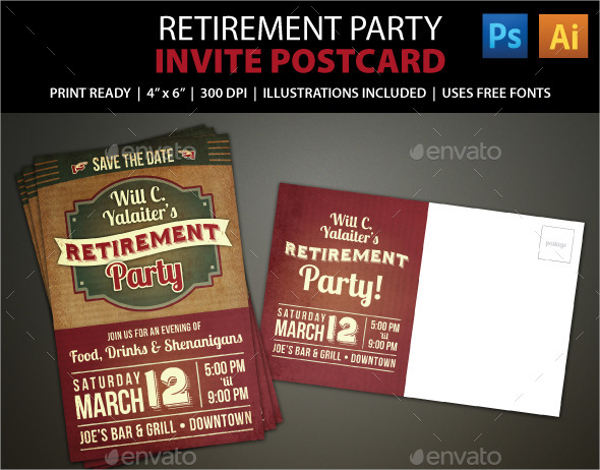 retirement party invitation templates
