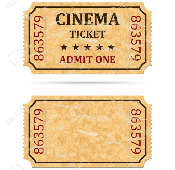 70 Ticket Templates - movie ticket template