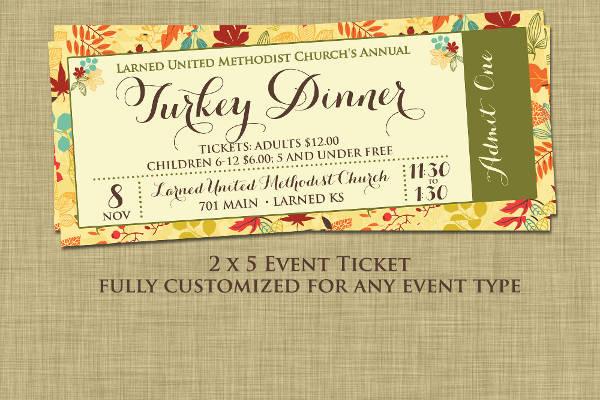 70 Ticket Templates - dinner tickets template
