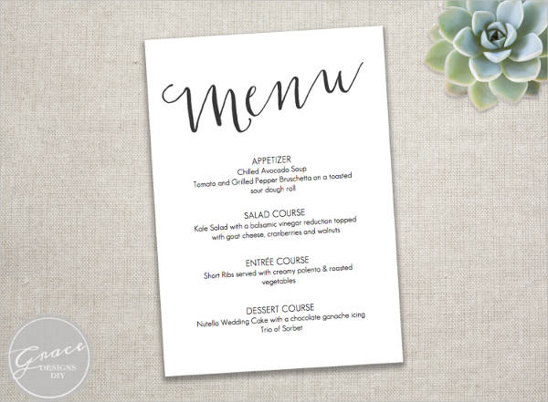 dinner party menu template free - Ozilalmanoof - dinner menu templates free