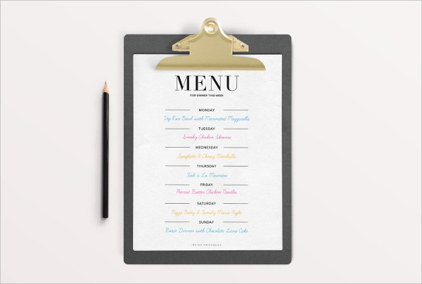 33 Party Menu Templates - dinner party menu template