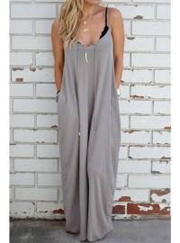 Soft Flowing Maxi Dress - Gray / Sleeveless / Casual