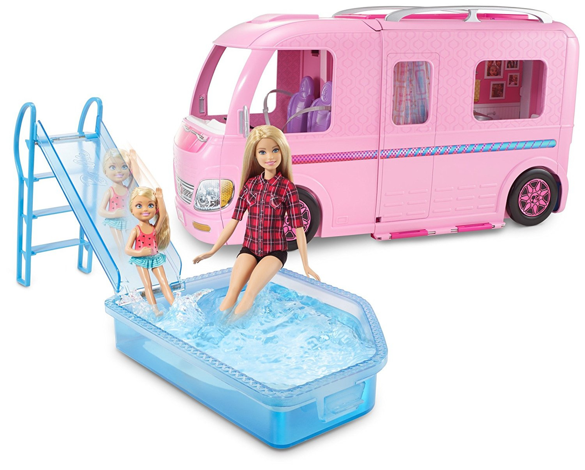 Barbie Toys Australia Barbie Fbr34 Camper Van Vehicle Fashion Doll And