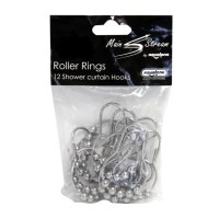 Roller Rings Pack of 12 Shower Curtain Hooks