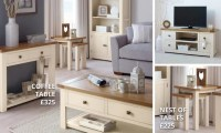 Henley Cream Living Room Collection | Dunelm