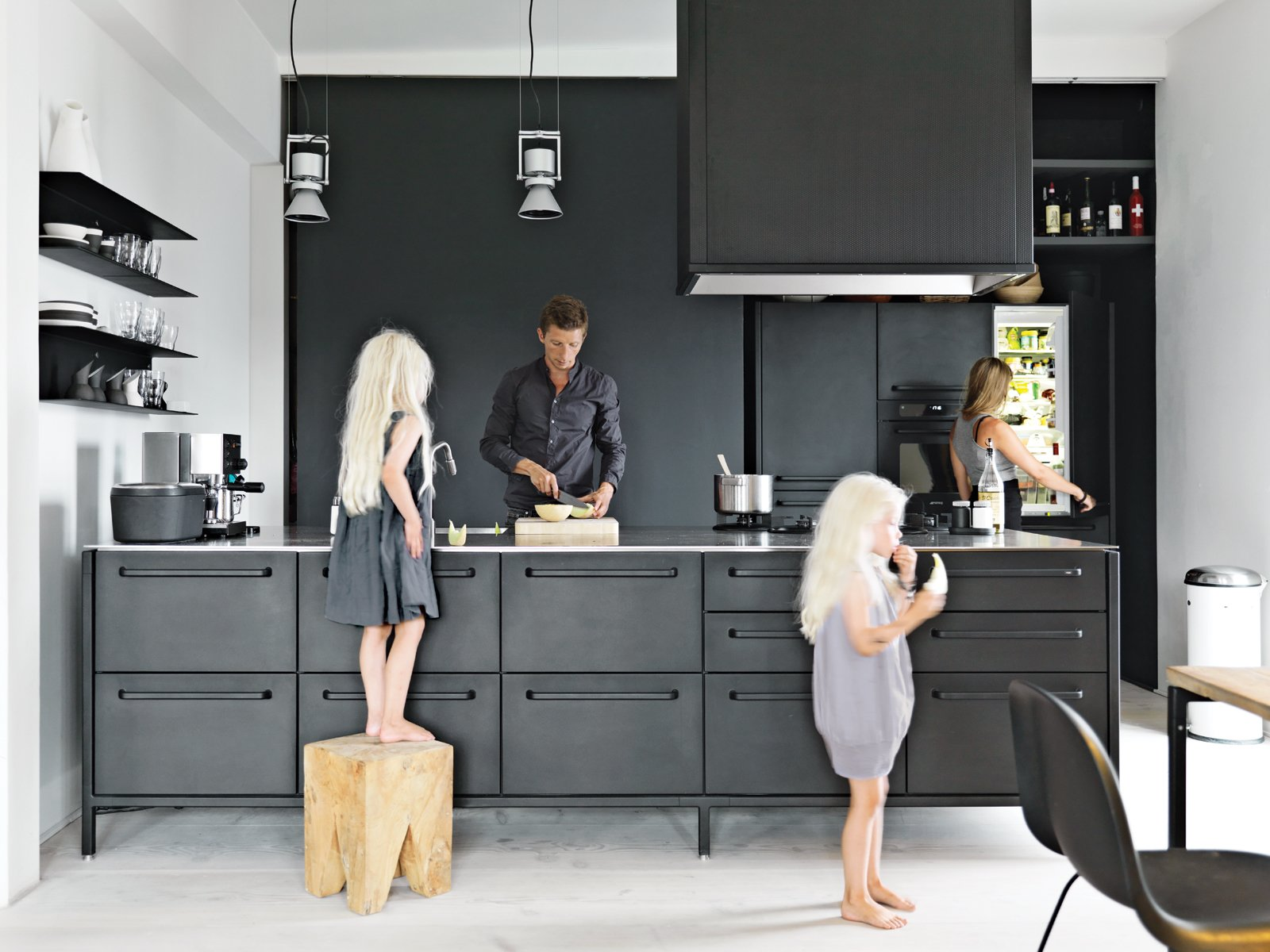 Black Design For Kitchen 30 Photos Of Black And White Kitchens Dwell