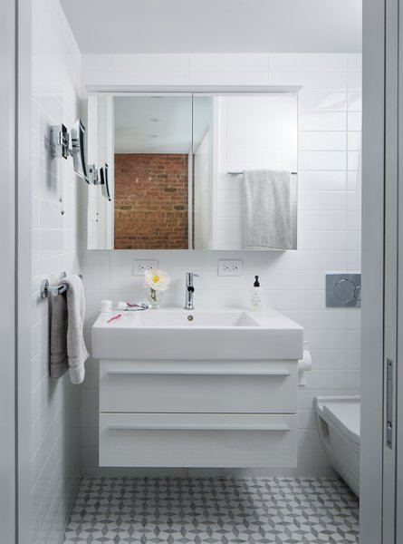 Bathroom Led Mirror Photo 8 Of 9 In A 16-foot-wide Triplex Is Cleverly