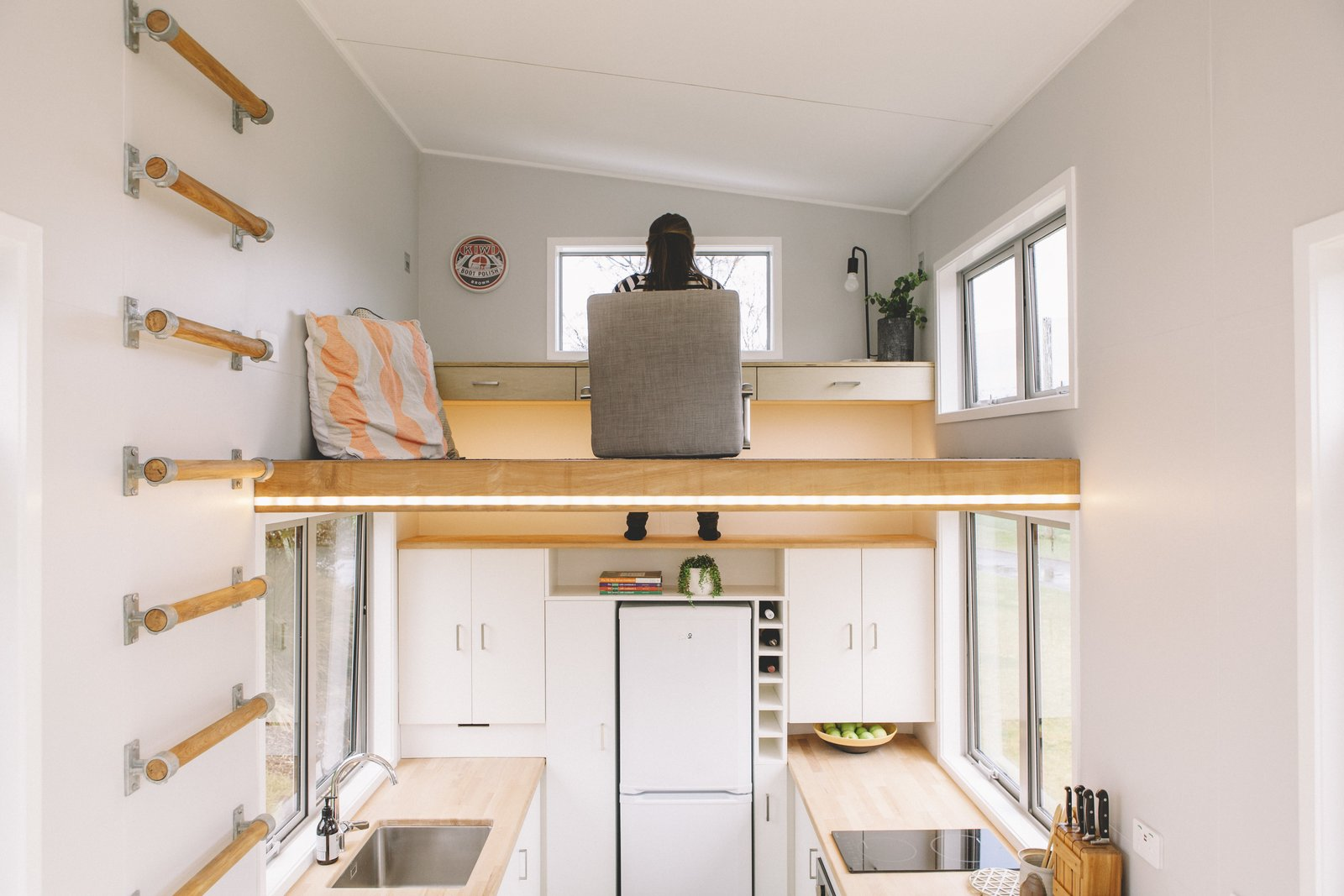 This Ingenious Tiny House Saves Space With A Lofted Office And Underfloor Storage Dwell