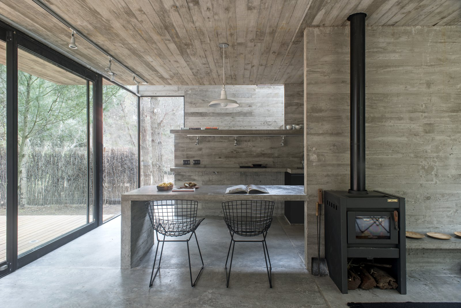 Concrete Rooms Photo 6 Of 10 In A Concrete Vacation House Keeps Life Simple In