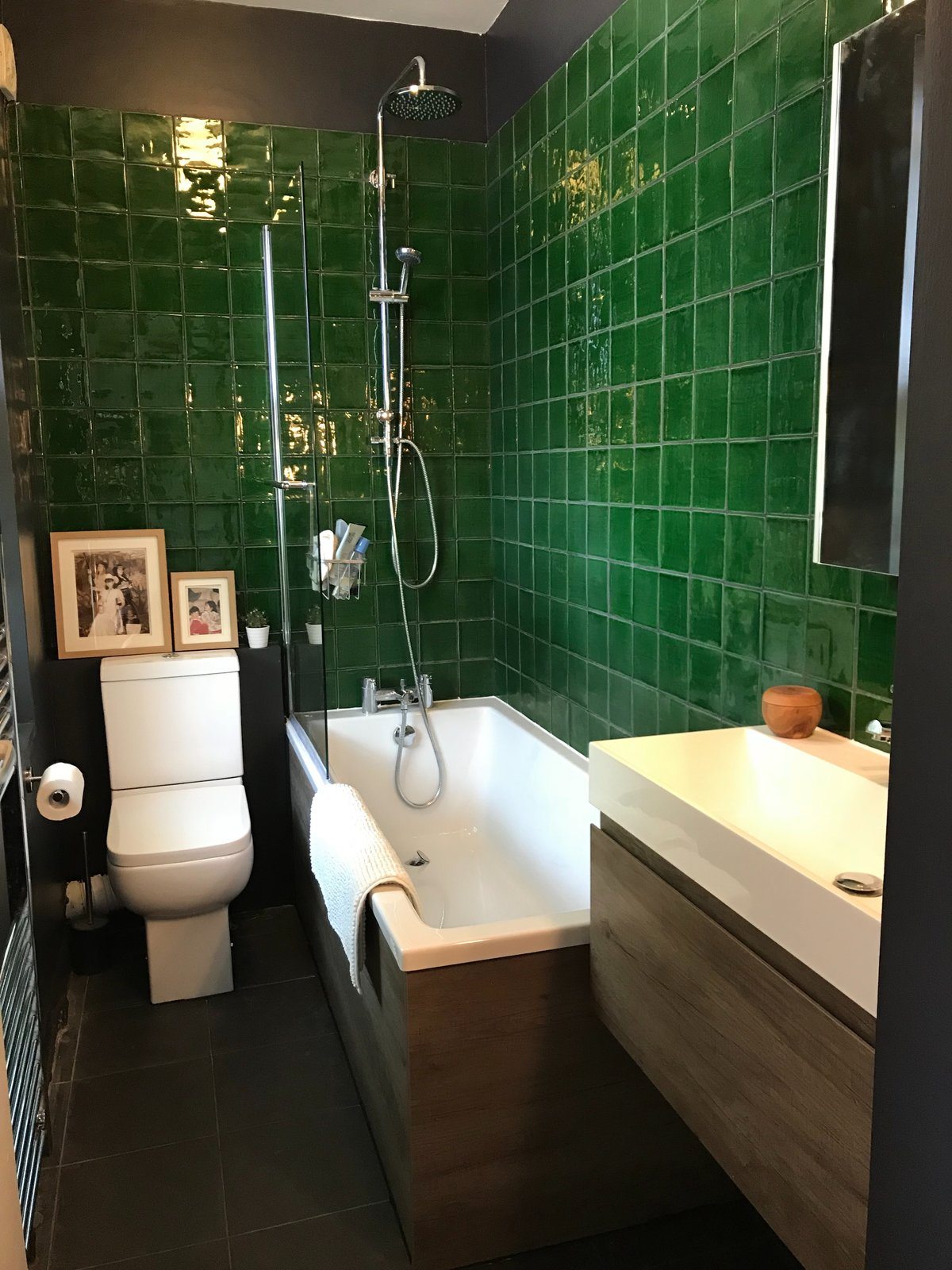 Small Bathroom Makeover A Sleek Small Bathroom Makeover Modern Home In London England