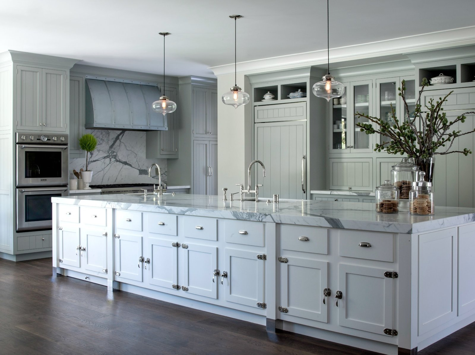 Modern Farmhouse Incorporates Contemporary Kitchen Island