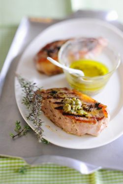 Classy Grilled Veal Chops Caper Vinaigrette Recipe Eat Er Usa Veal Chop Recipes Baked Veal Chop Recipes Italian Style