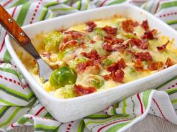 Snazzy Brussels Sprouts Gratin Keto Bacon Brussels Sprouts Gratin Recipe Keto Bacon Nutrition Eat Brussel Sprouts Keto Recipe Vegetarian Keto Brussel Sprouts