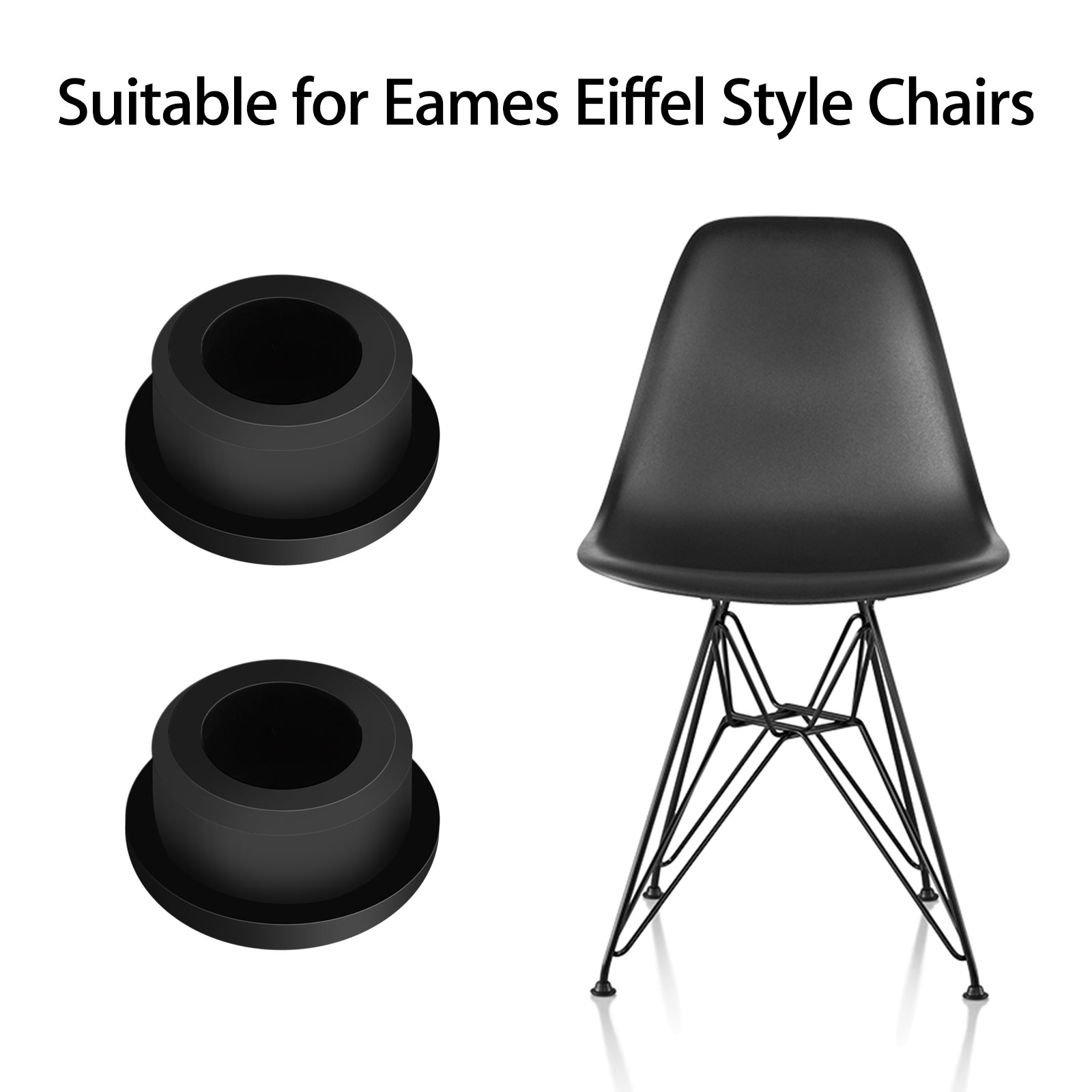 Eames Eiffel Details About 4pcs Chair Glides Replacement Fit For Eames Eiffel Style Furniture Feet Black