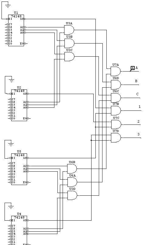 help 32 to 8 line encoder