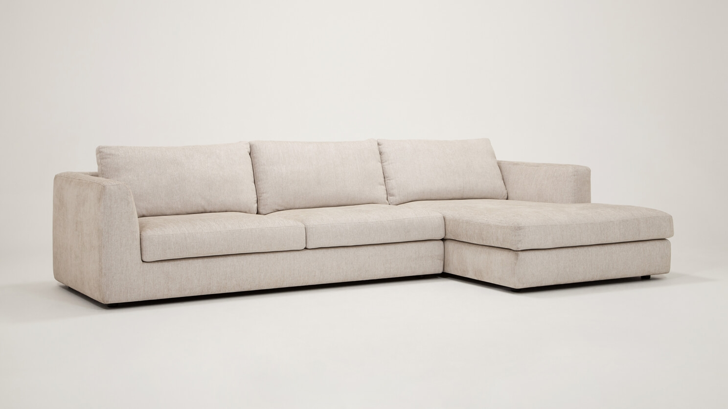 Promo Chaise Cello 2 Piece Sectional Sofa With Chaise Fabric Eq3