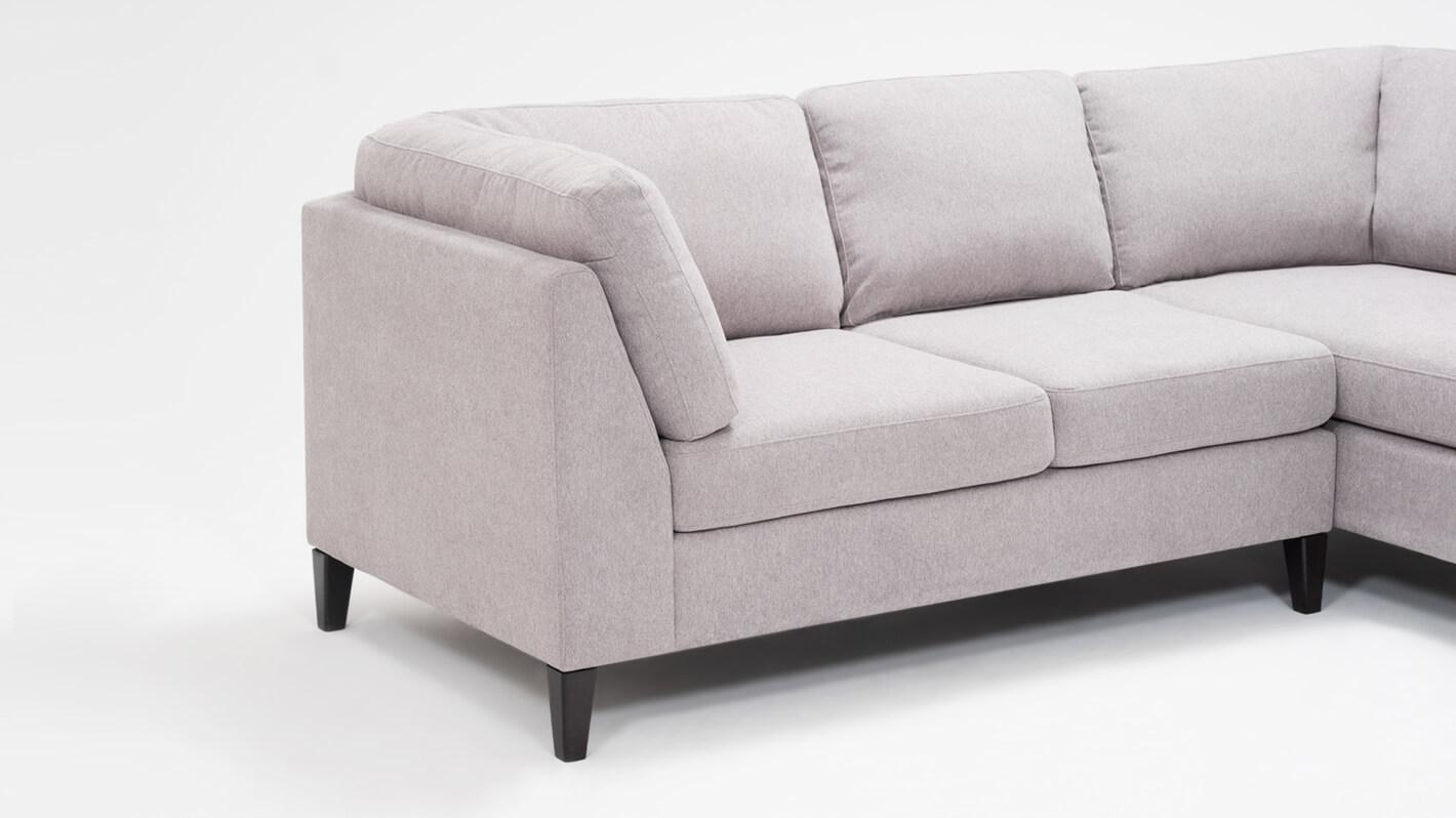 Big Sofa Caspe Salema 2 Piece Sectional Sofa With Chaise Fabric Eq3