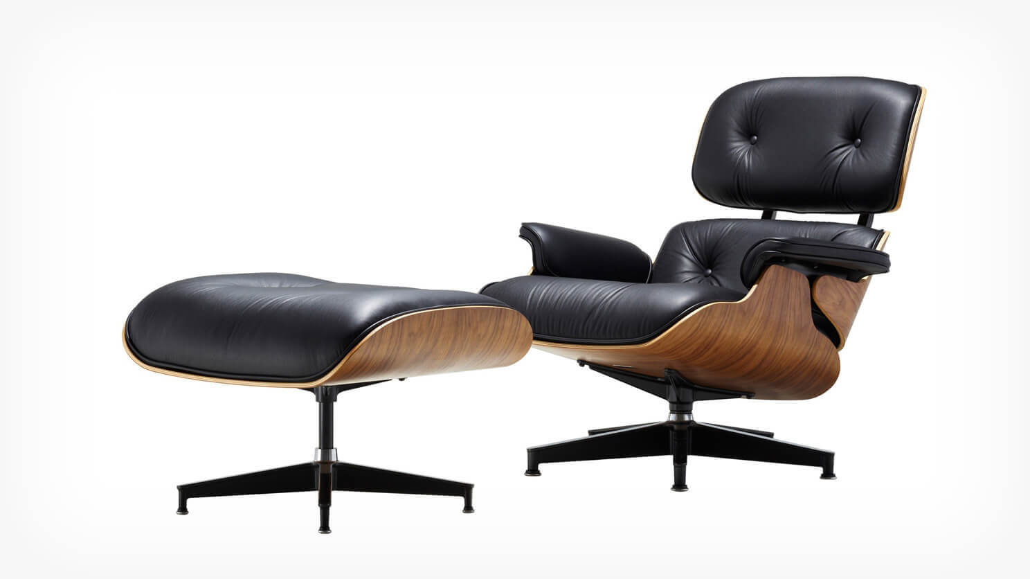Fauteuil Repose Pied Fauteuil Inclinable Et Repose Pieds Eames