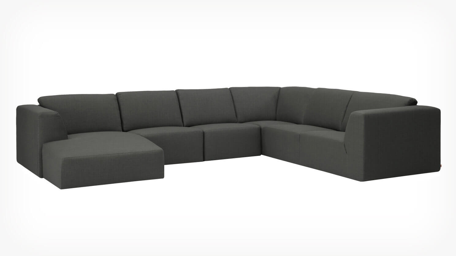 Morteens Sofa Morten 6 Piece Sectional Sofa With Chaise Fabric Eq3