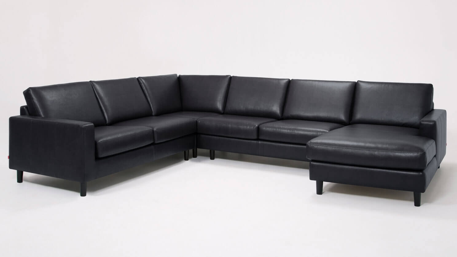 Focus On Furniture Sofa Bed Oskar 4 Piece Sectional Sofa With Chaise Leather