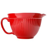 NEW ZEAL KITCHEN RED MELAMINE MIXING BOWL JUG WITH SPOUT ...
