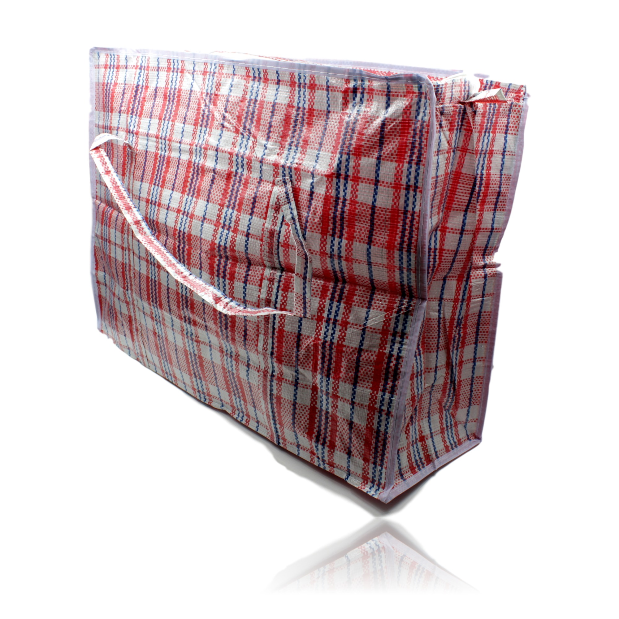 Carry Laundry Bag Re Usable Woven Plastic Shopping Storage Laundry Carry Bag