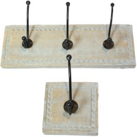 Shabby Vintage Chic Mango Wood Distressed Coat Racks Hooks ...