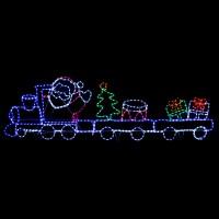 Giant 2.5m Santa Train Flashing Rope Light LED Christmas ...