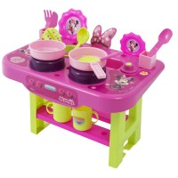 My First Kitchen Disney Minnie Mouse Play Set Hob Cooker ...