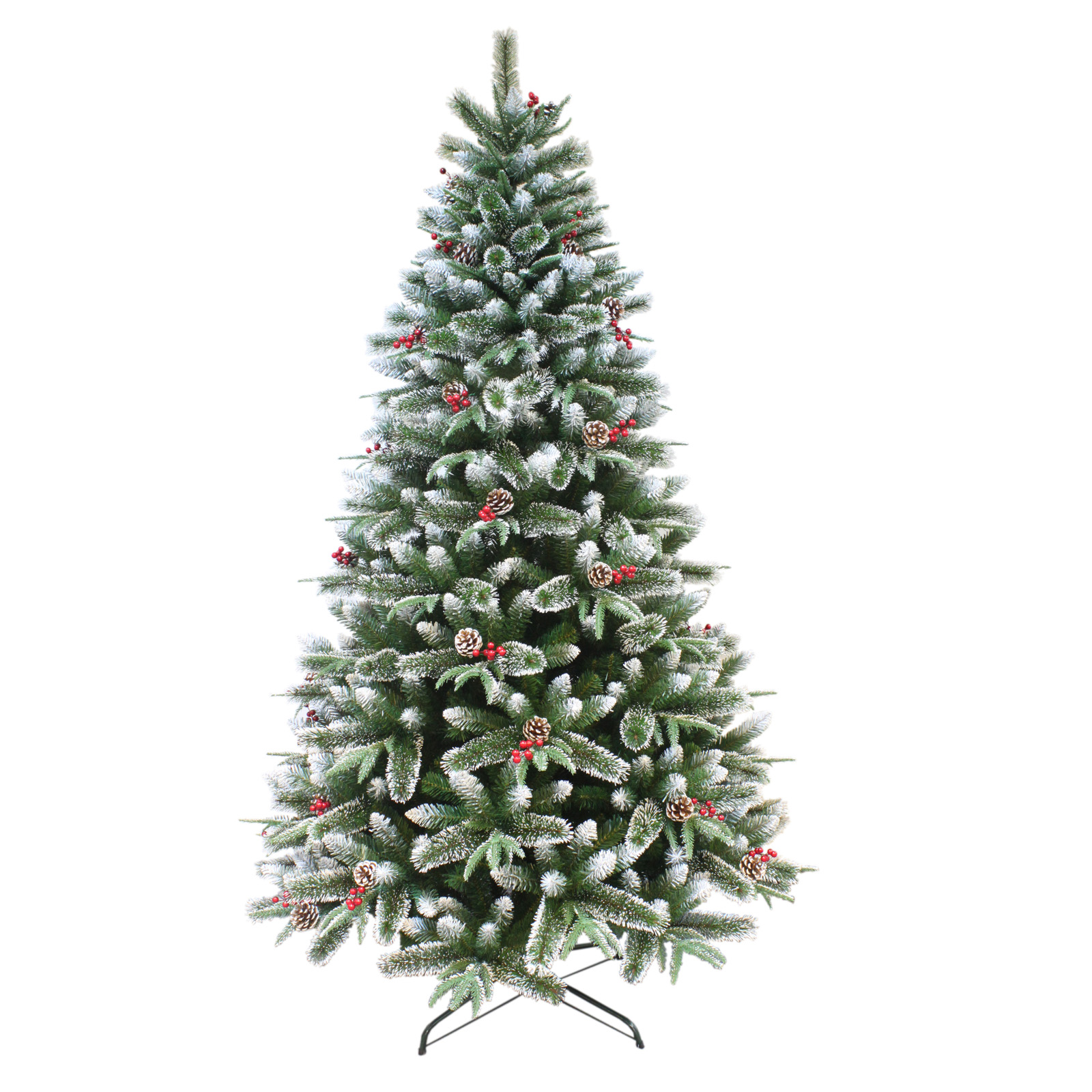 Artificial Mixed Pine Indoor Xmas Tree With Snow Frosted