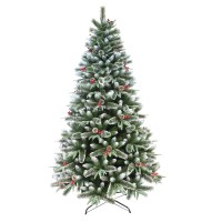 Artificial Mixed Pine Indoor Xmas Tree With Snow Frosted ...