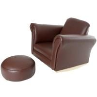 Children's PU Leather Look Comfy Rocker Rocking Armchair ...