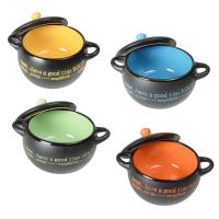 Set of 4 Modern Design Ceramic Soup Bowls Gift Idea With ...