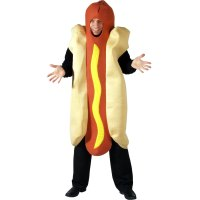 Adults Giant Hot Dog Funny Fancy Dress Up Party Halloween ...