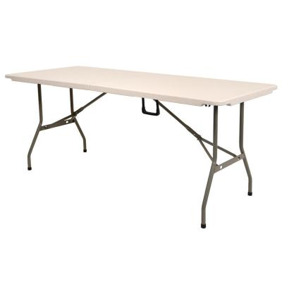 1.8m Folding DIY Wallpaper Pasting Indoor Outdoor Off White Plastic Table New