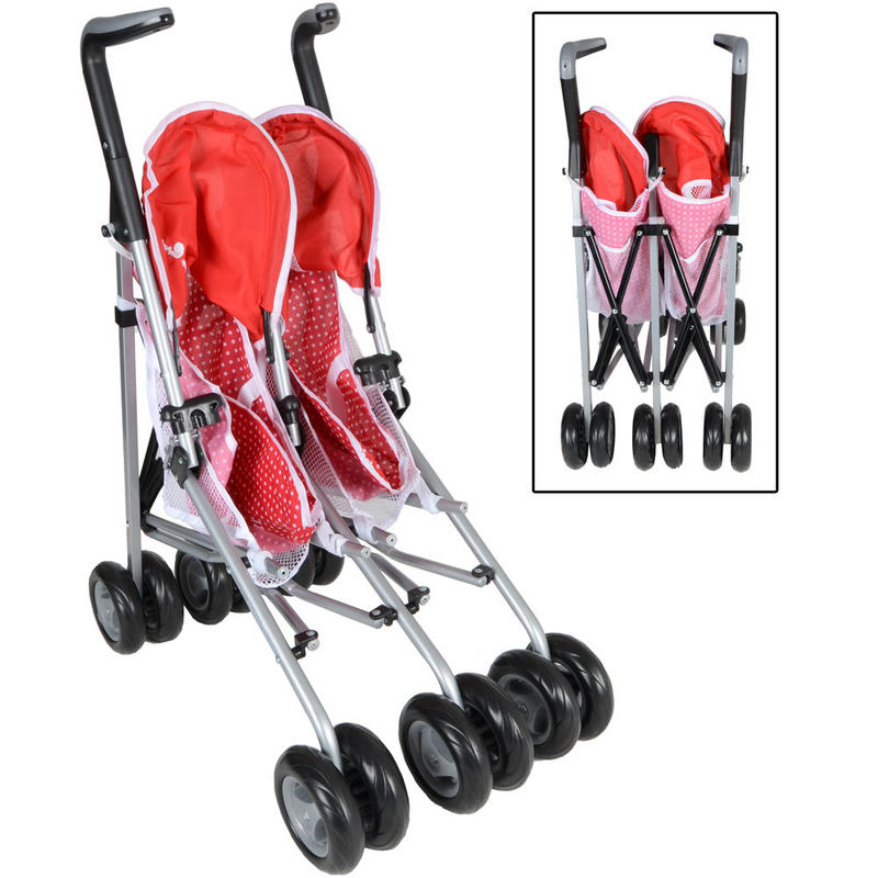 Silver Cross Buggy Toy Silver Cross Pop Duo Twin Two Seat Poppy Red Kids Girls