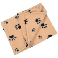 Small Soft Fleece Paw Print Home Car Dog Cat Animal Pet ...
