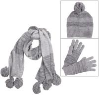 Ladies Melissa Marble Knit Winter Accessory Set - Hat ...