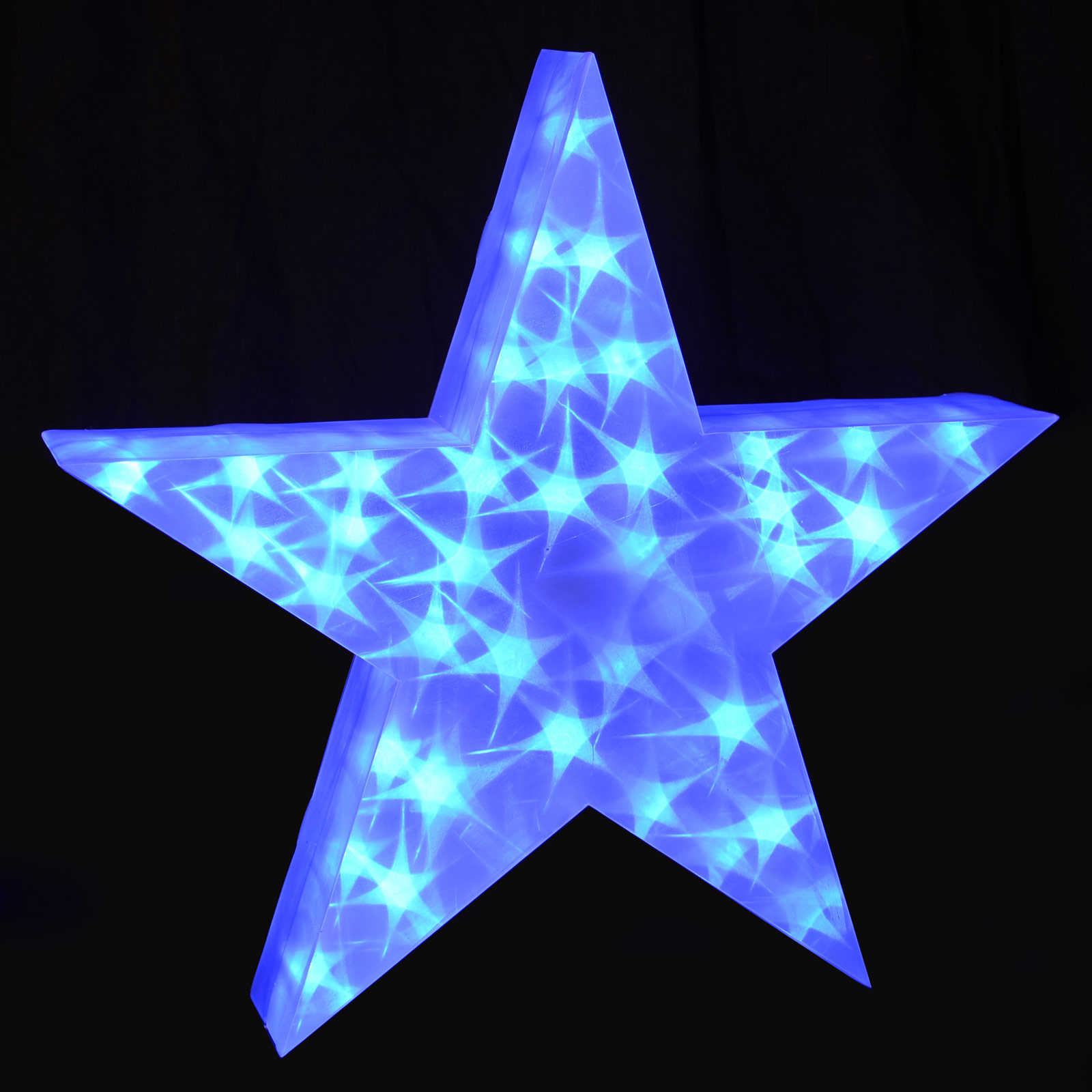 Christmas Star Lights Holographic Led Star Light Up Christmas Decoration 50cm 3d