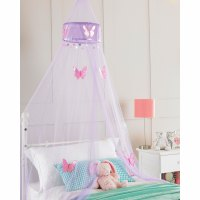 Childrens Girls Bed Canopy Mosquito Fly Netting - Ruffle ...