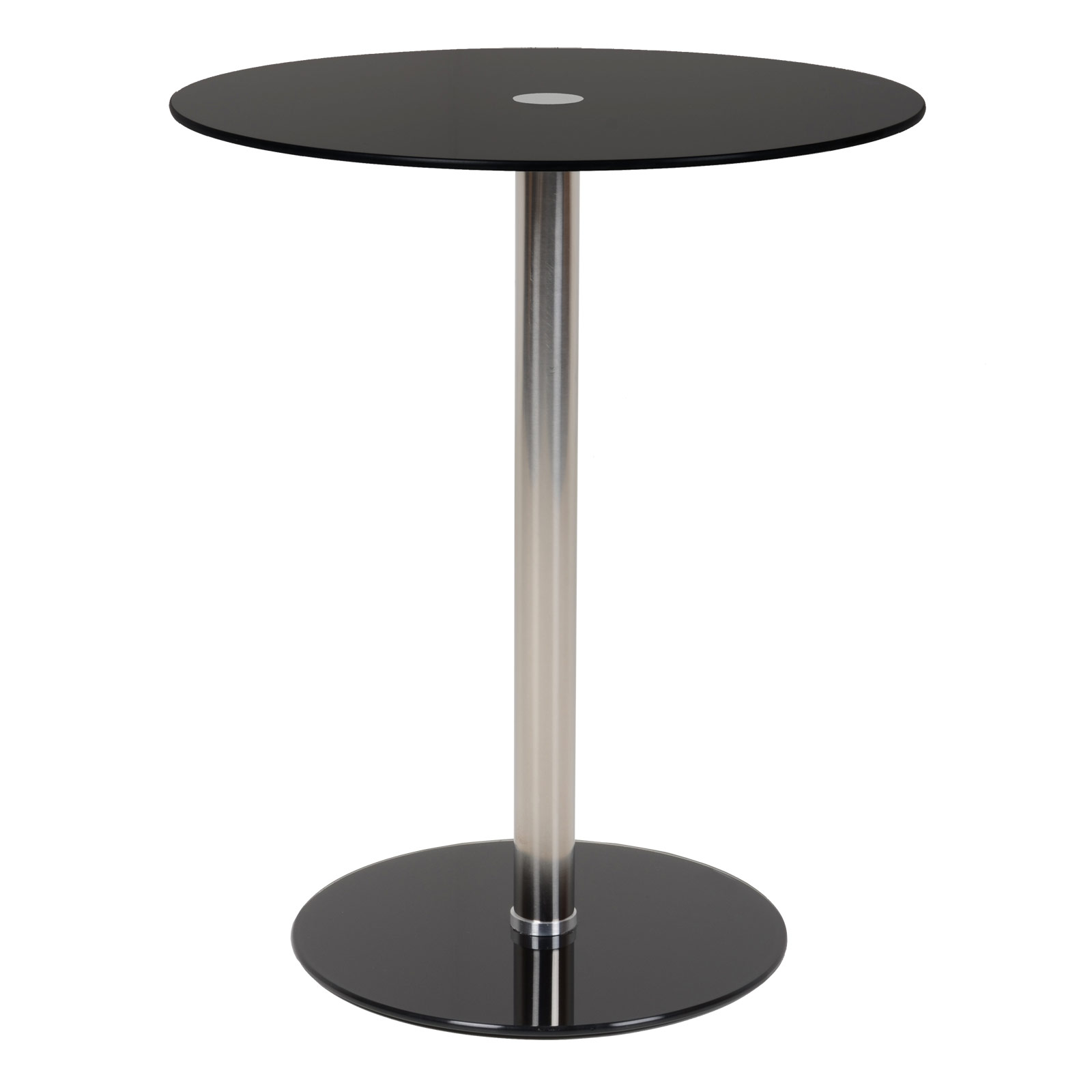 Black Modern Side Table Nova Black Round Modern Glass Top Side Table Sidebar